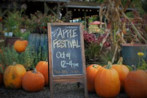 Apple Fest Sign Oct 9